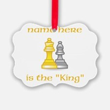 Personlized King Shirt Ornament