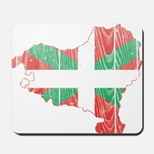Basque Flag And Map Mousepad