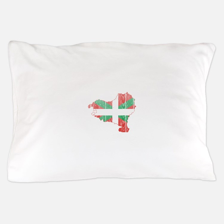 Basque Flag And Map Pillow Case