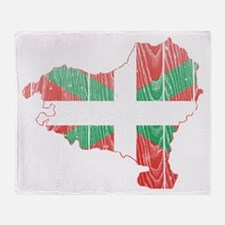 Basque Flag And Map Throw Blanket