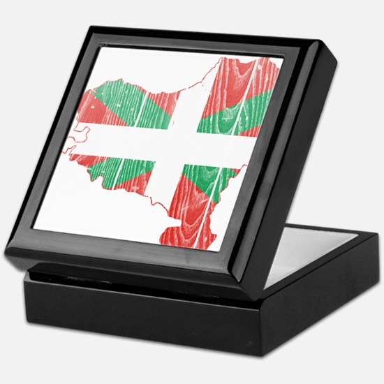 Basque Flag And Map Keepsake Box
