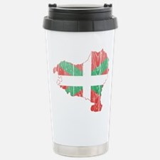 Basque Flag And Map Stainless Steel Travel Mug