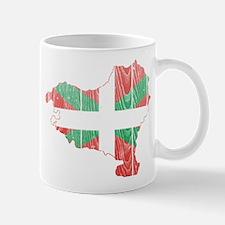 Basque Flag And Map Mug