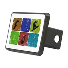 Snowboarding Vintage snowboarder Hitch Cover