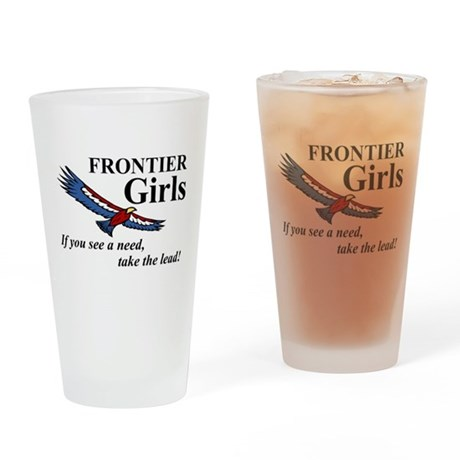 Frontier Girls Motto - Color Drinking Glass