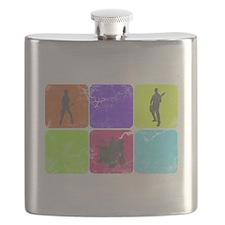 Vintage Music Band Flask