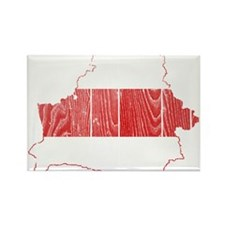 Belarus Flag And Map Rectangle Magnet