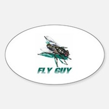 Fly Guy Oval Decal