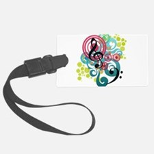 Music Swirl Luggage Tag