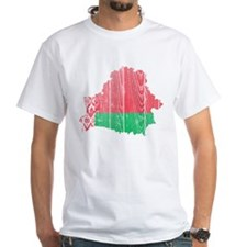 Belarus Flag And Map Shirt