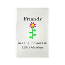 Friends are Flowers Rectangle Magnet