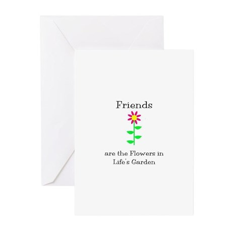 Friends are Flowers Greeting Cards (Pk of 10)