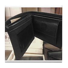 Leather Wallet Tile Coaster