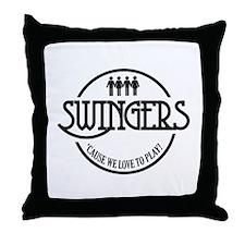 Swingers Throw Pillow