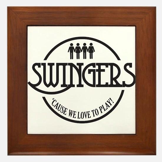 Swingers Framed Tile
