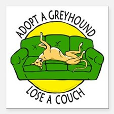 """Lose a Couch (G) Square Car Magnet 3"""" x 3"""""""