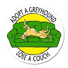 Lose a Couch (G) Round Car Magnet