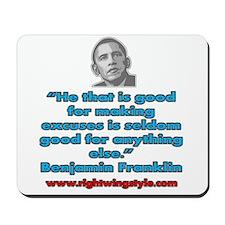 Benjamin Franklin Quote Mousepad