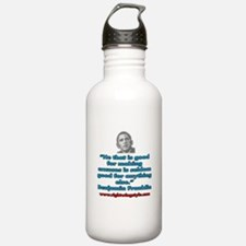Benjamin Franklin Quote Water Bottle