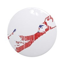 Bermuda Flag And Map Ornament (Round)
