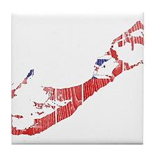Bermuda Flag And Map Tile Coaster