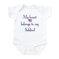 Heart Belongs 2 Infant Creeper (A)