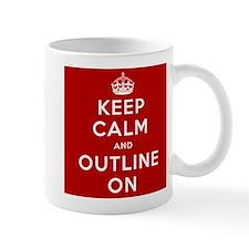 Keep Calm And Outline On Coffee Mug