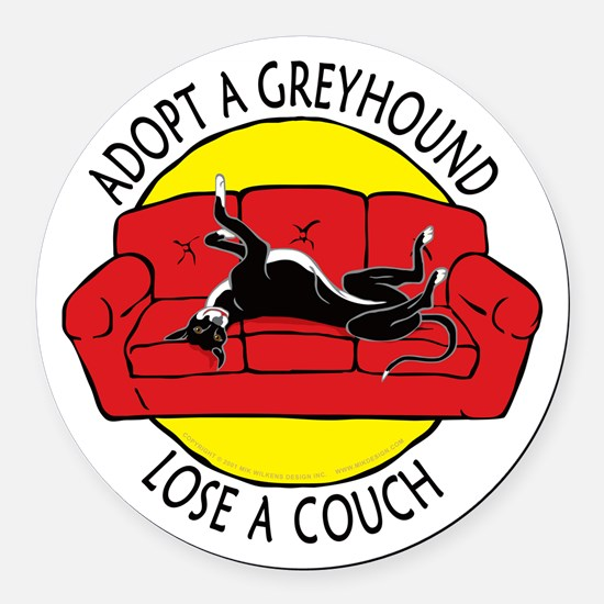 Lose a Couch (R) Round Car Magnet
