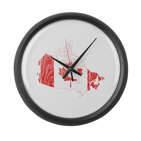 canada flag and map large wall clock by flagandmapwood