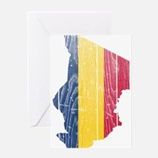 Chad Flag And Map Greeting Card