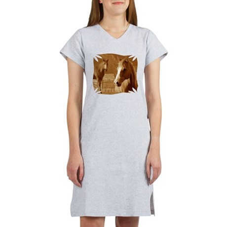 horse sepia picture Women's Nightshirt