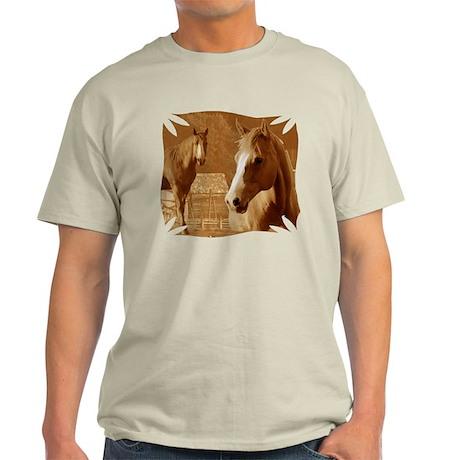 horse sepia picture Light T-Shirt