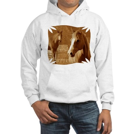 horse sepia picture Hooded Sweatshirt