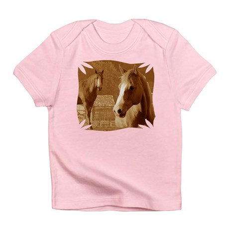 horse sepia picture Infant T-Shirt