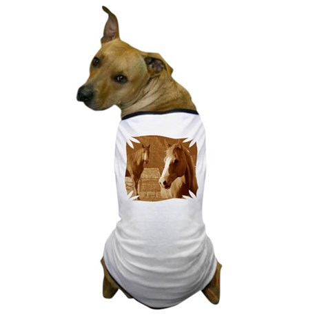 horse sepia picture Dog T-Shirt