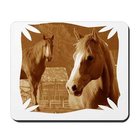 horse sepia picture Mousepad