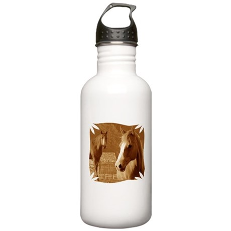 horse sepia picture Stainless Water Bottle 1.0L