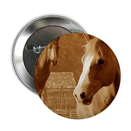 """horse sepia picture 2.25"""" Button (10 pack)"""