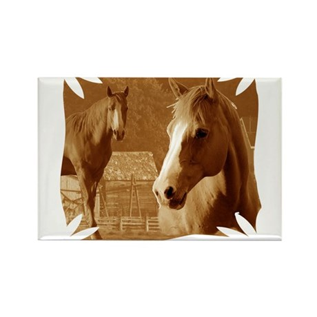 horse sepia picture Rectangle Magnet