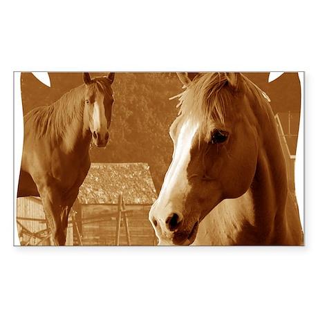 horse sepia picture Sticker (Rectangle)