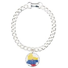 Colombia Civil Ensign Flag And Map Bracelet