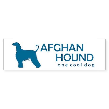 "Afghan Hound ""One Cool Dog"" Bumper Sticker"