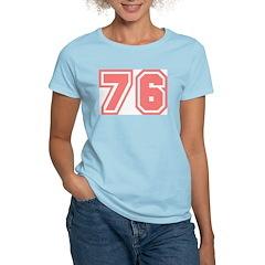 Varsity Uniform Number 76 (Pink) Women's Pink T-Sh