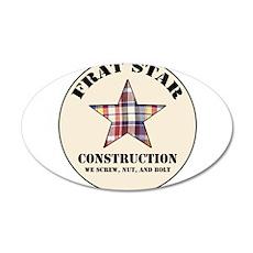 Frat Star Construction Wall Decal