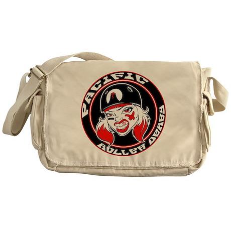 Pacific Roller Derby Logo Messenger Bag