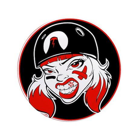 "Pacific Roller Derby Logo 3.5"" Button"