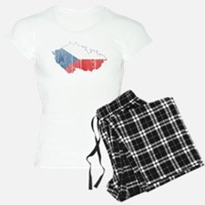 Czech Flag And Map pajamas