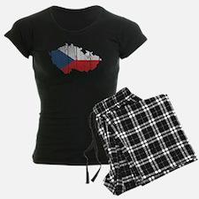 Czech Flag And Map pajamas
