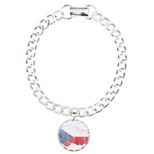 Czech Flag And Map Bracelet