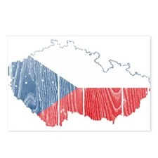 Czech Flag And Map Postcards (Package of 8)